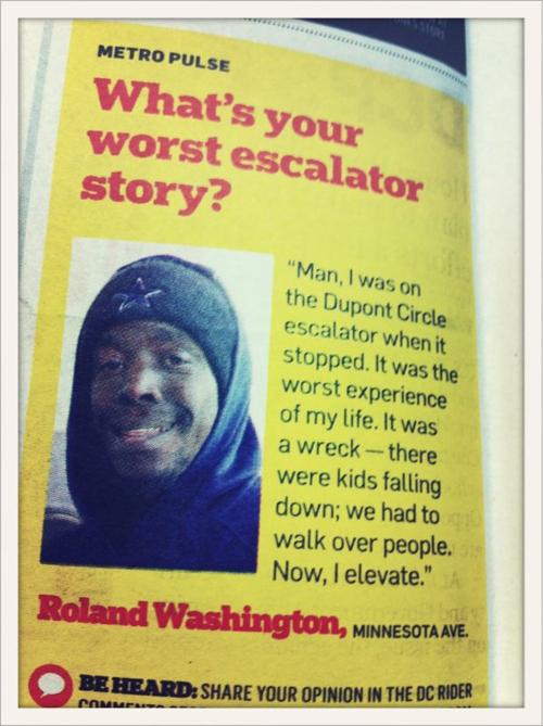 The worst escalator story EVER