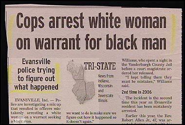 Cops arrest white woman on warrant for black man