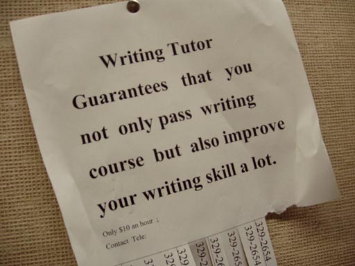 Make sure you get the right writing tutor