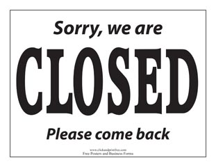 Friday humor devotional humoroutcasts for Open closed sign template