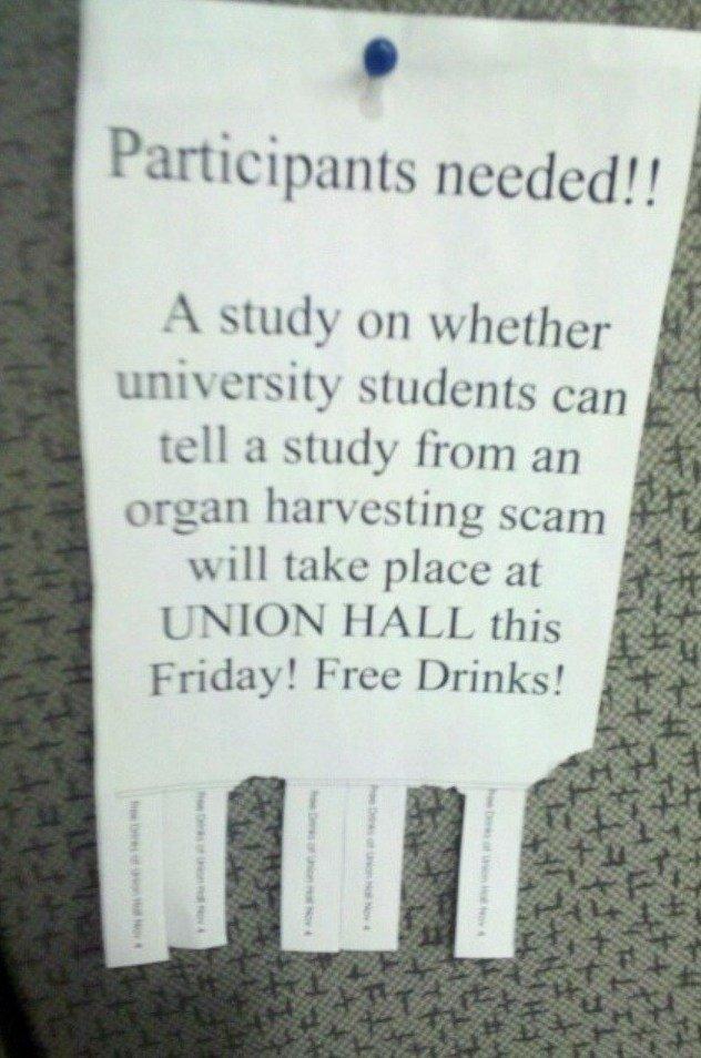 Organ Harvesting Scam