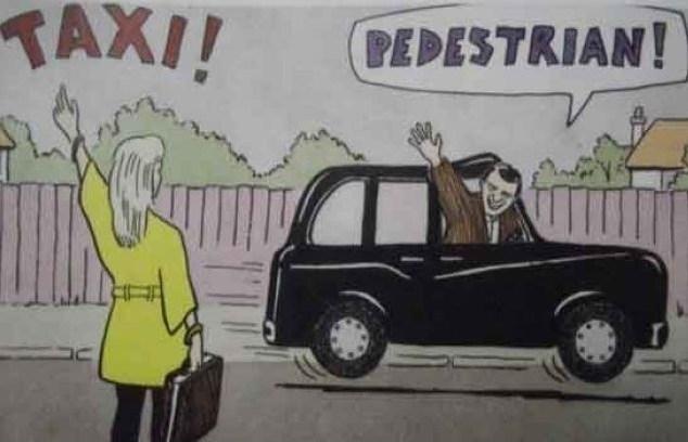Taxi Man Tim v The Pedestrian