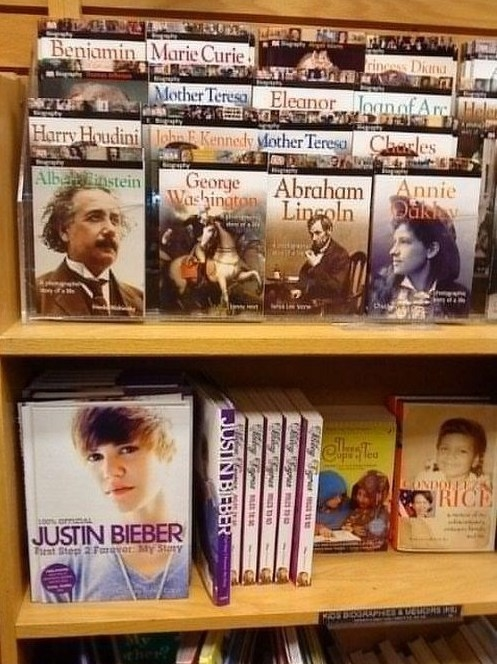 Some of the greatest historical figures ever assembled in a library or bookstore.
