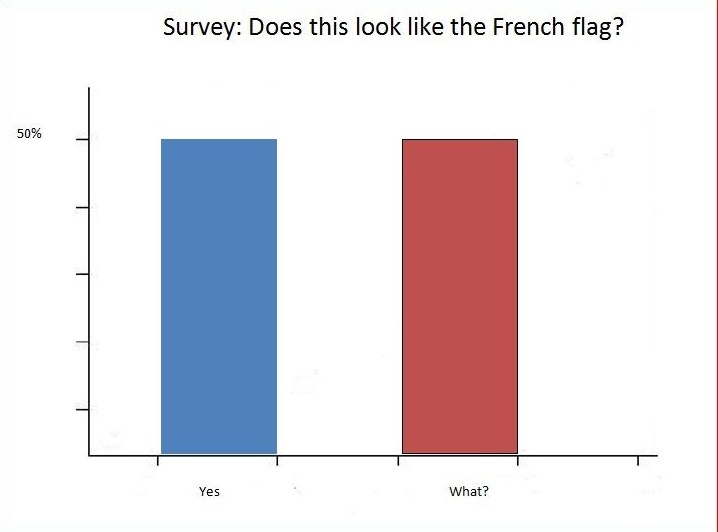 Survey: Does this look like the French flag?