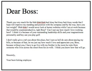 A Letter To My Boss