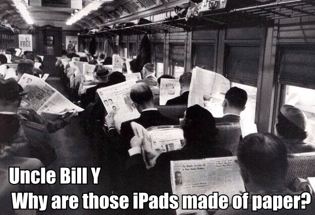 Why are those iPads made of paper?