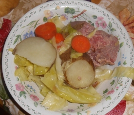 Simple Corned Beef and Tic-tac-toe