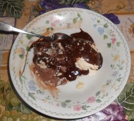 Chocolate and Vanilla Sundae