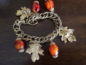 According to my great grandmother's bracelet, she enjoyed collecting maple leaves and hunting for glass acorns.