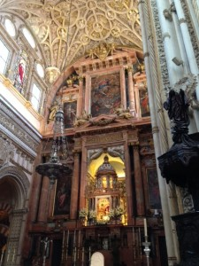 Section of the cathedral