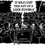 ISIS The Lone Gunman Cartoon