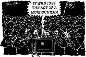 ISIS The Lone Gunman Cartoon