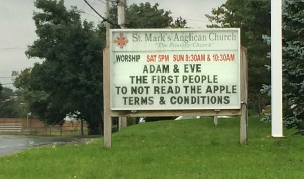 The Apple Terms & Conditions
