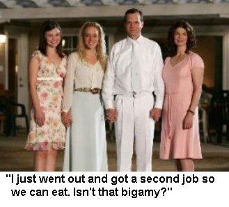 BIG LOVE: Ginnifer Goodwin, Chloe Sevigny, Bill Paxton, Jeanne Tripplehorn. photo: Ron Batzdorff