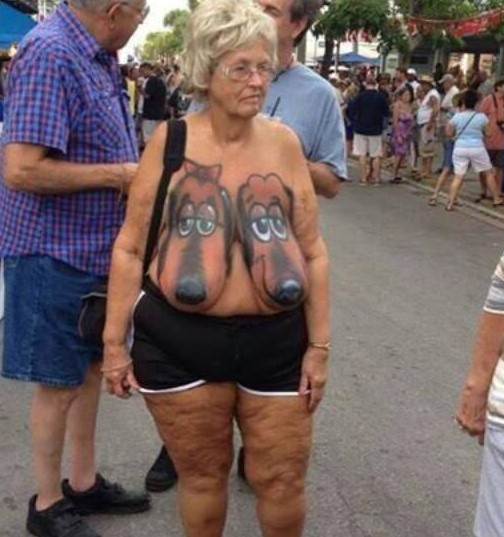She Let The Dogs Out Body Paint