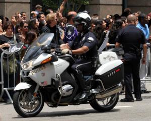 LAPD motor cop