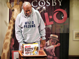 Bill Cosby checks an original recipe from his pudding combo days. Photo: Jell-O Archives/Bill Cosby Jell-O Collection.