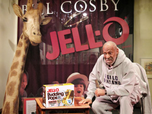 Bill Cosby responding to youthful transgressors at the Jell-O Pudding Pop Exhibit. Photo: Jell-O Archives/Bill Cosby Jell-O Collection.