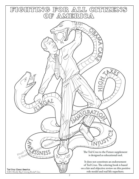Ted Cruz Saves America with a Coloring Book
