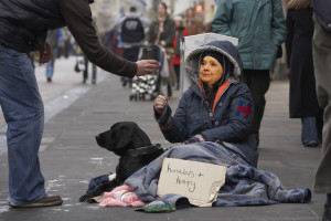Hilary Clinton walks an inch in the average homeless man's shoes.