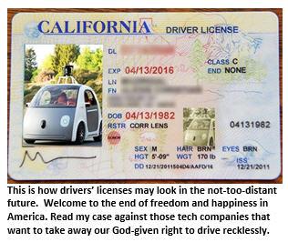 self-driving car - drivers license