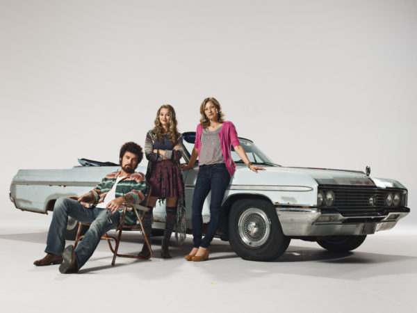 Billy Ray Cyrus, Madison Iseman, and  Joey Lauren Adams star in Still The King (photo courtesy of CMT)