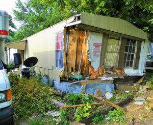 mobile home crash