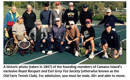 old farts tennis club - group photo