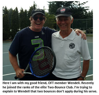 old farts tennis club - me and Dave