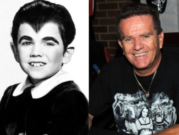 (L) Butch Patrick as Eddie Munster and (R) Butch Patrick today