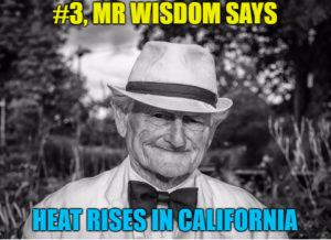 Mr. Wisdom Says, Heat Rises in California