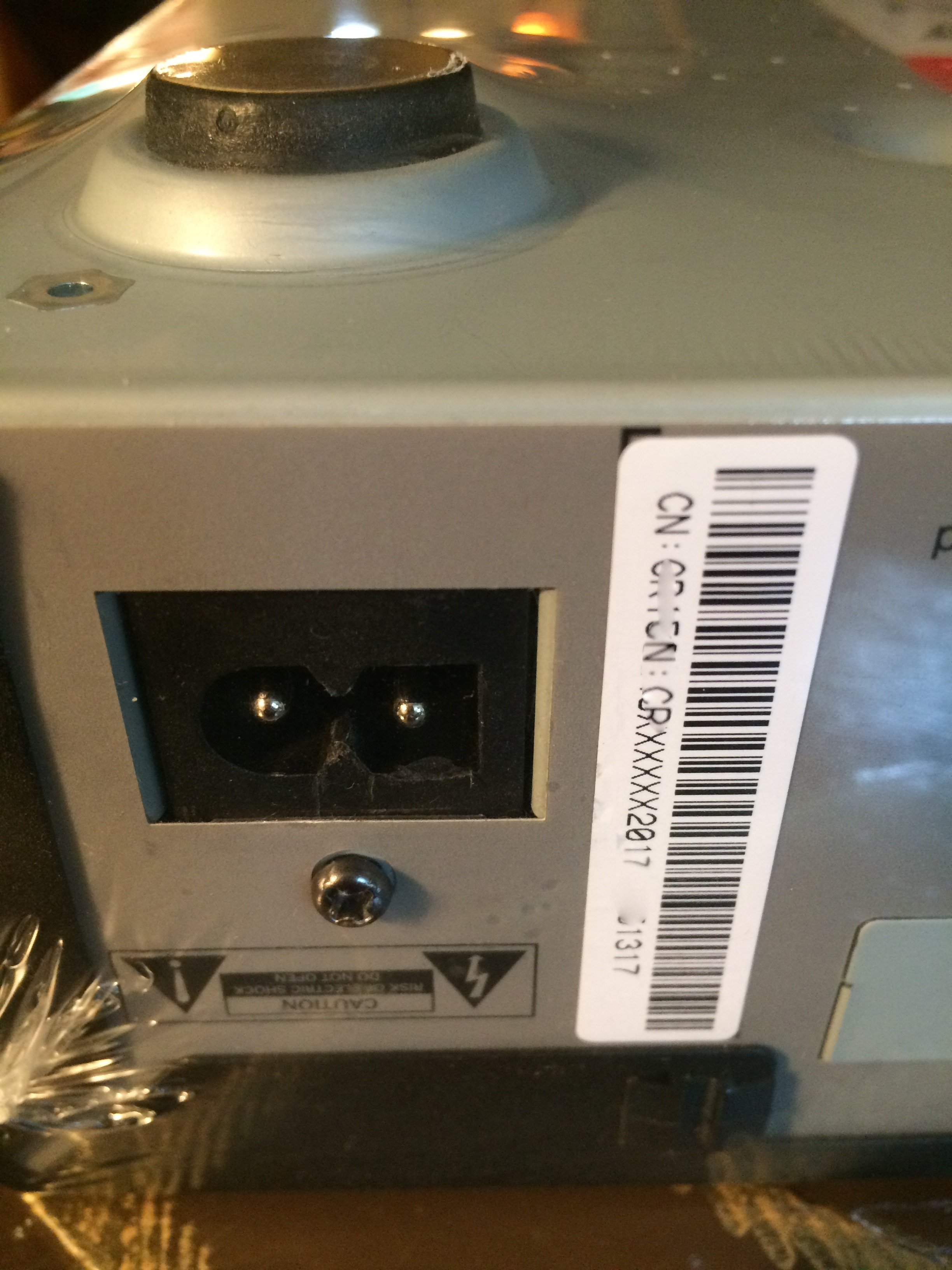set top box plug connection