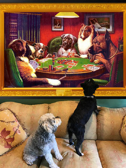 <strong>Budgeting for your dogs' needs can be expensive. Especially if they're collectors of fine art.</strong>