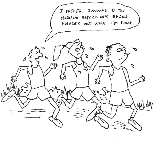 Are runners crazy: